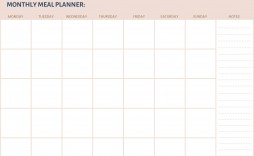 006 Outstanding Free Meal Planner Template Pdf Highest Quality  Weekly With Grocery List Monthly