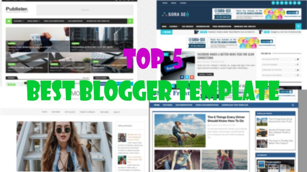006 Outstanding Free Responsive Seo Friendly Blogger Template Photo Large