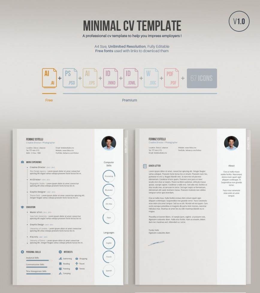 006 Outstanding Free Resume Template Pdf Highest Quality  Editable Blank Format Download Sample