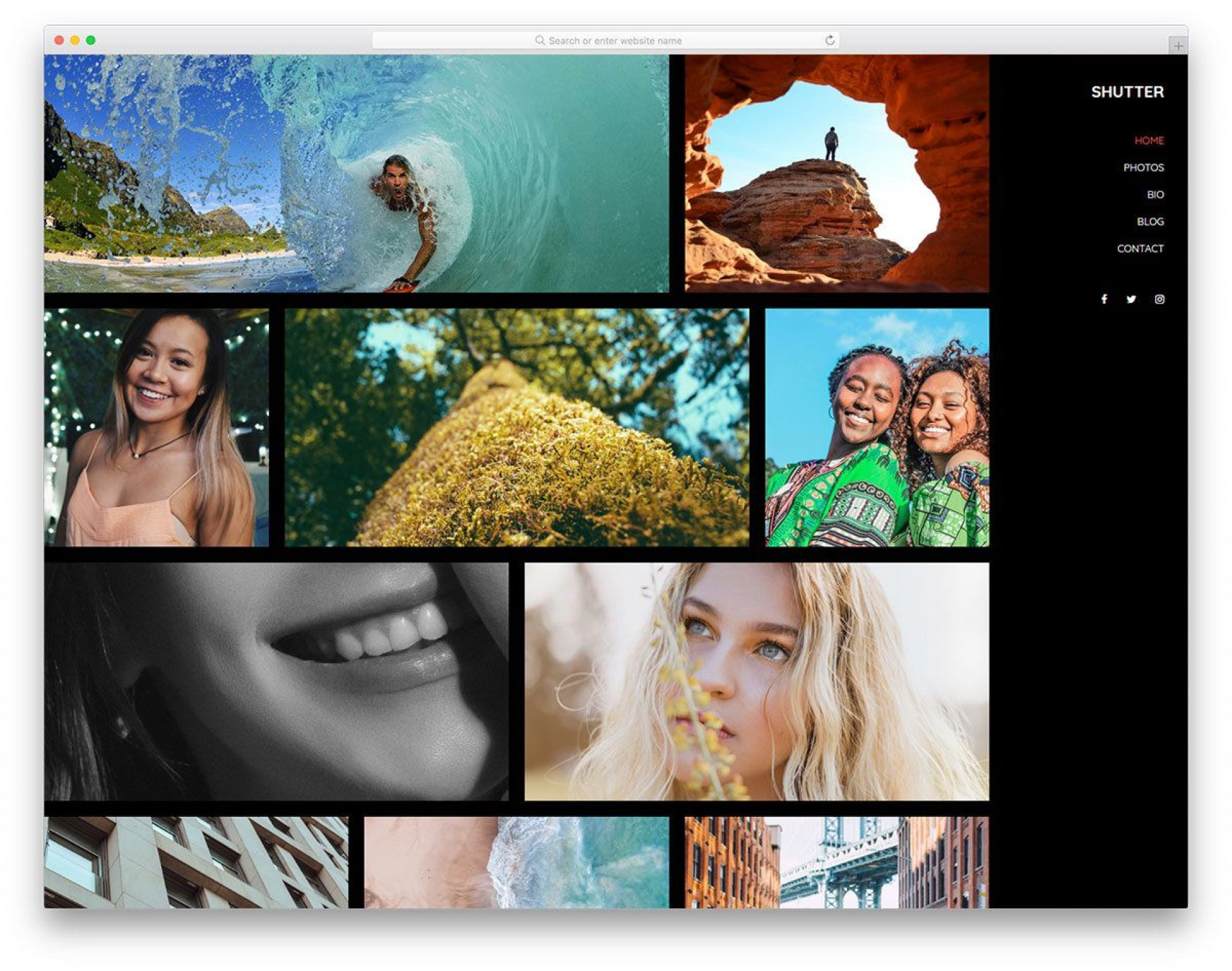 006 Outstanding Free Website Template Download Html And Cs For Photo Gallery Inspiration 1920