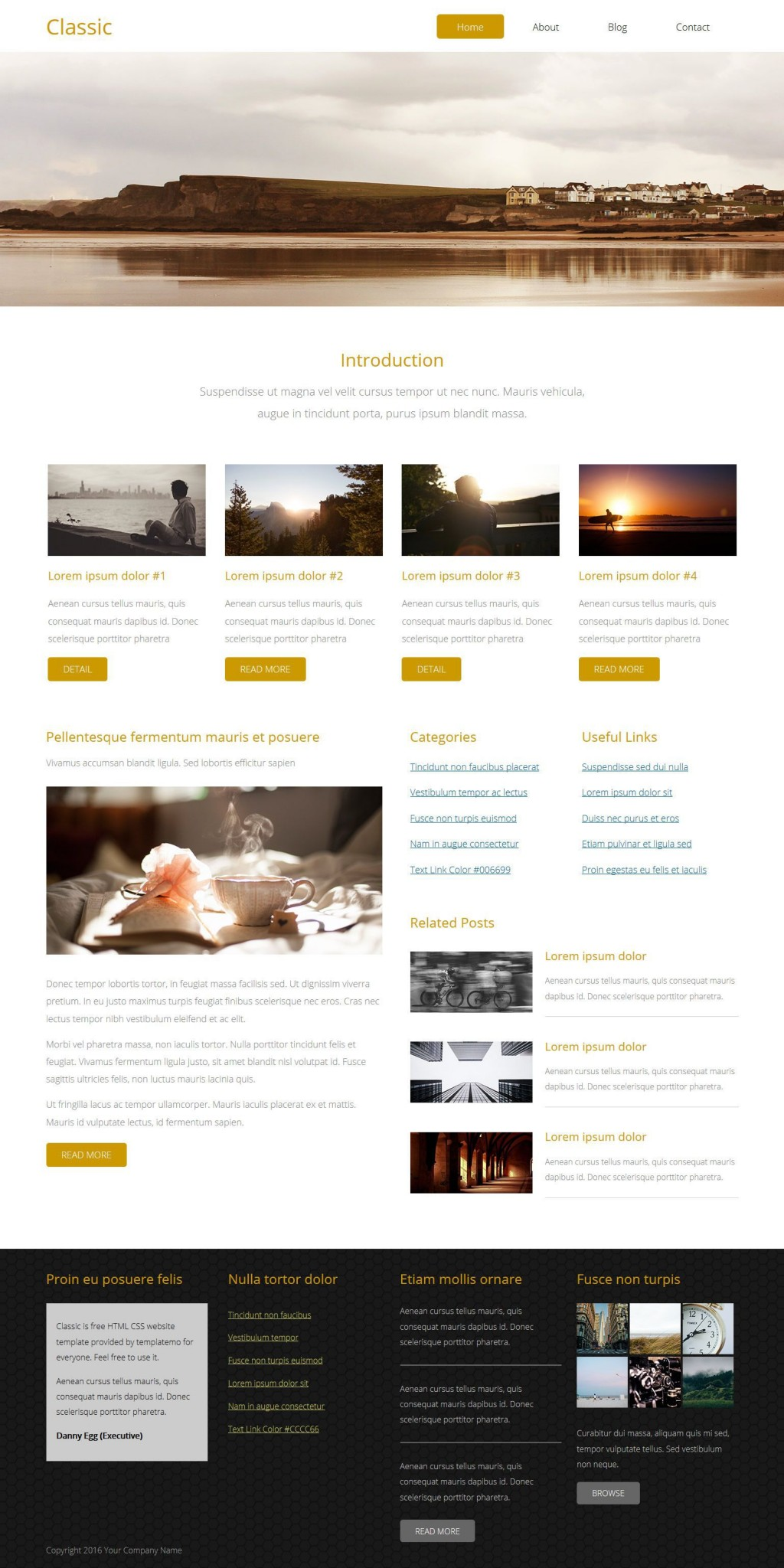 006 Outstanding Free Website Template Download Html And Cs With Slider Example  Jquery ResponsiveLarge