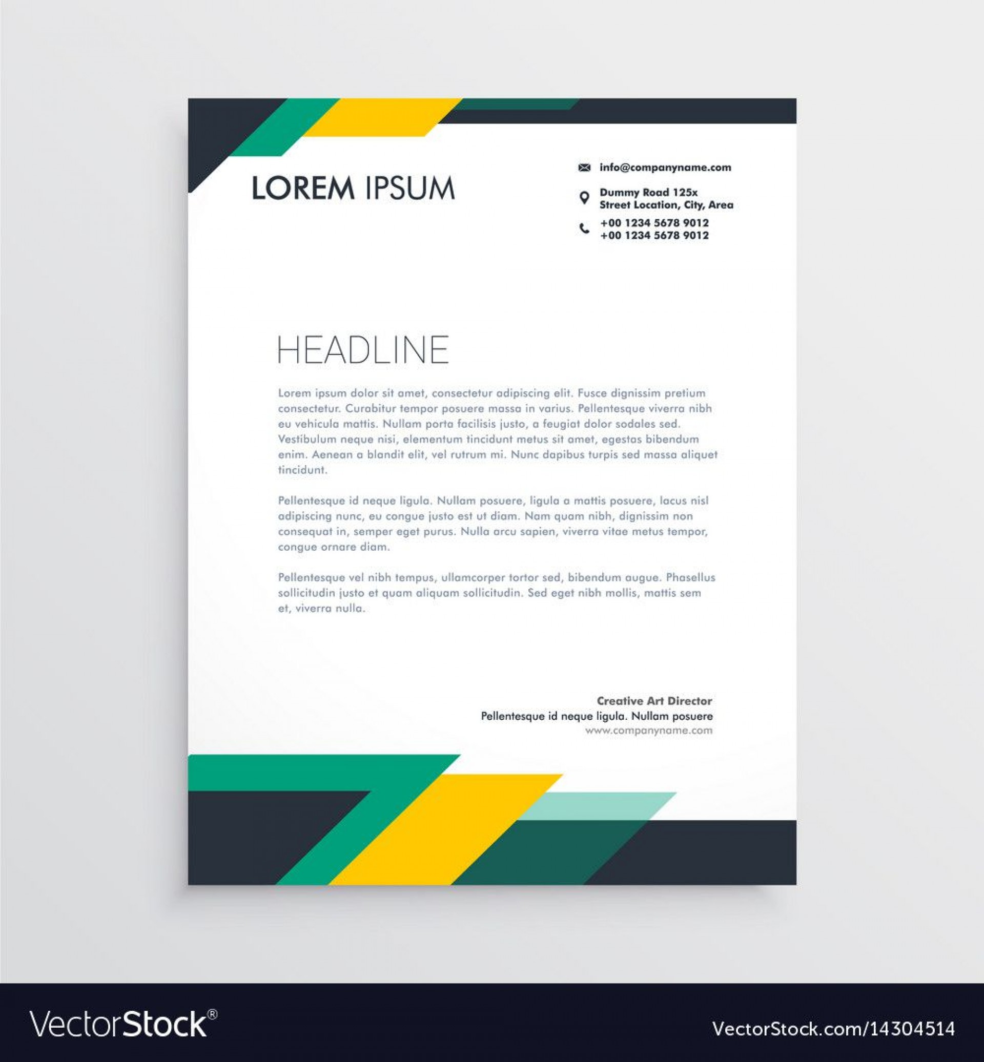 006 Outstanding Letter Pad Design Template Photo  Letterhead Download Ai Free In Word1920