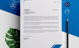 006 Outstanding Letterhead Template Free Download Psd Image  A4 Company