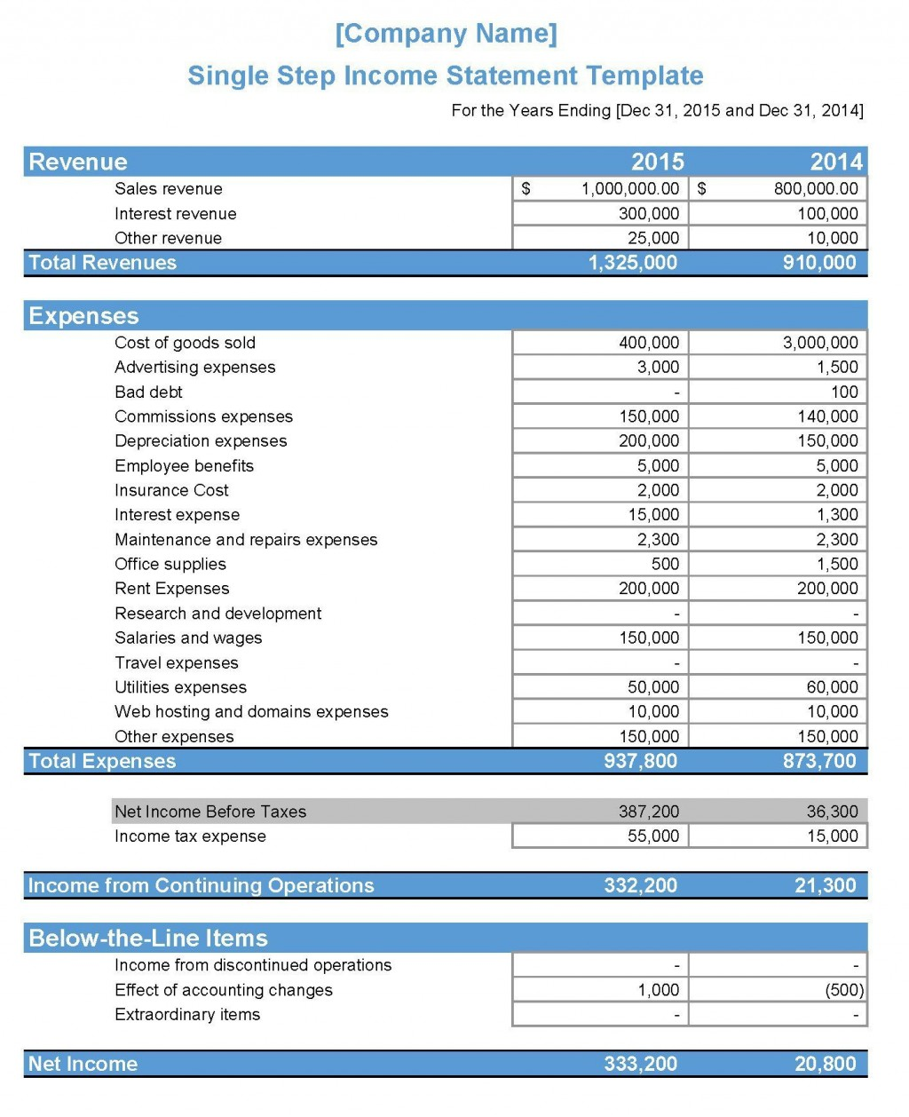 006 Outstanding Monthly Income Statement Format Excel Free Download Inspiration Large