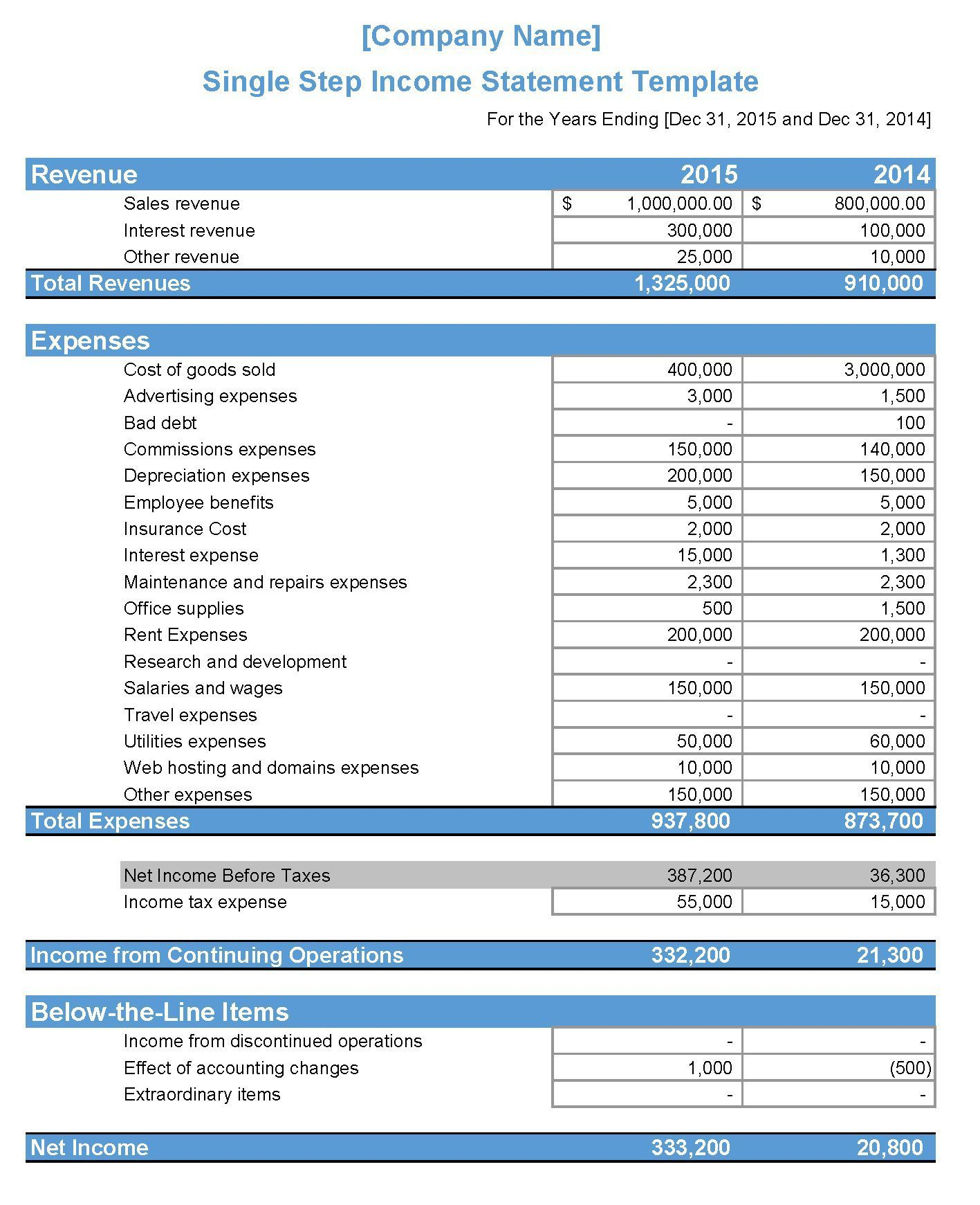 006 Outstanding Monthly Income Statement Format Excel Free Download Inspiration Full