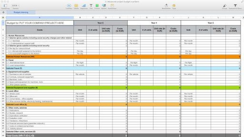 006 Outstanding Personal Budget Spreadsheet Template For Mac High Definition 960