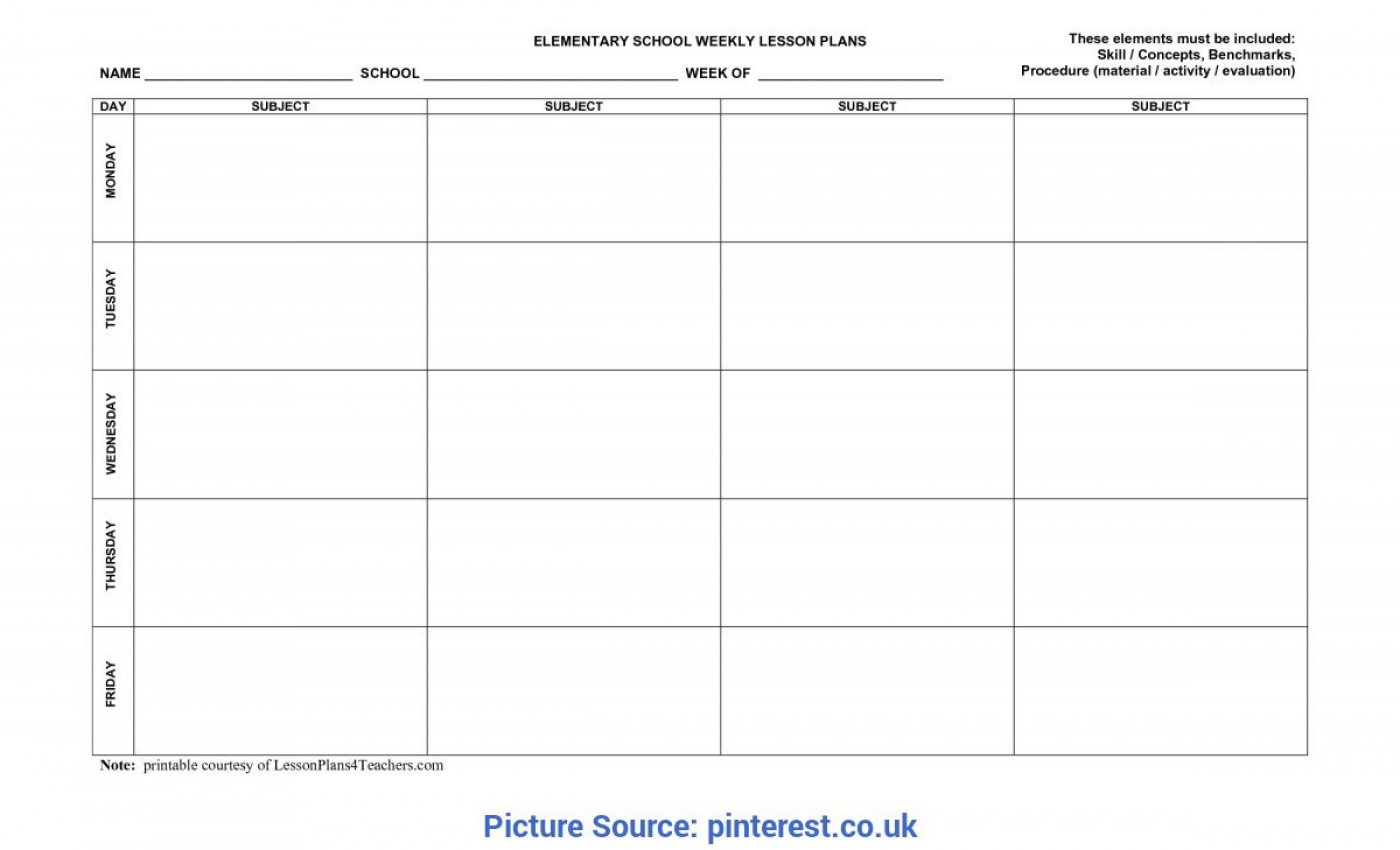 006 Outstanding Preschool Weekly Lesson Plan Template Highest Quality  Pdf Sample Free Printable1400