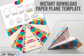 006 Outstanding Printable A4 Paper Plane Design
