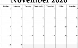 006 Outstanding Printable Calendar Template November 2020 Image  Free