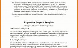006 Outstanding Request For Proposal Template Excel Design
