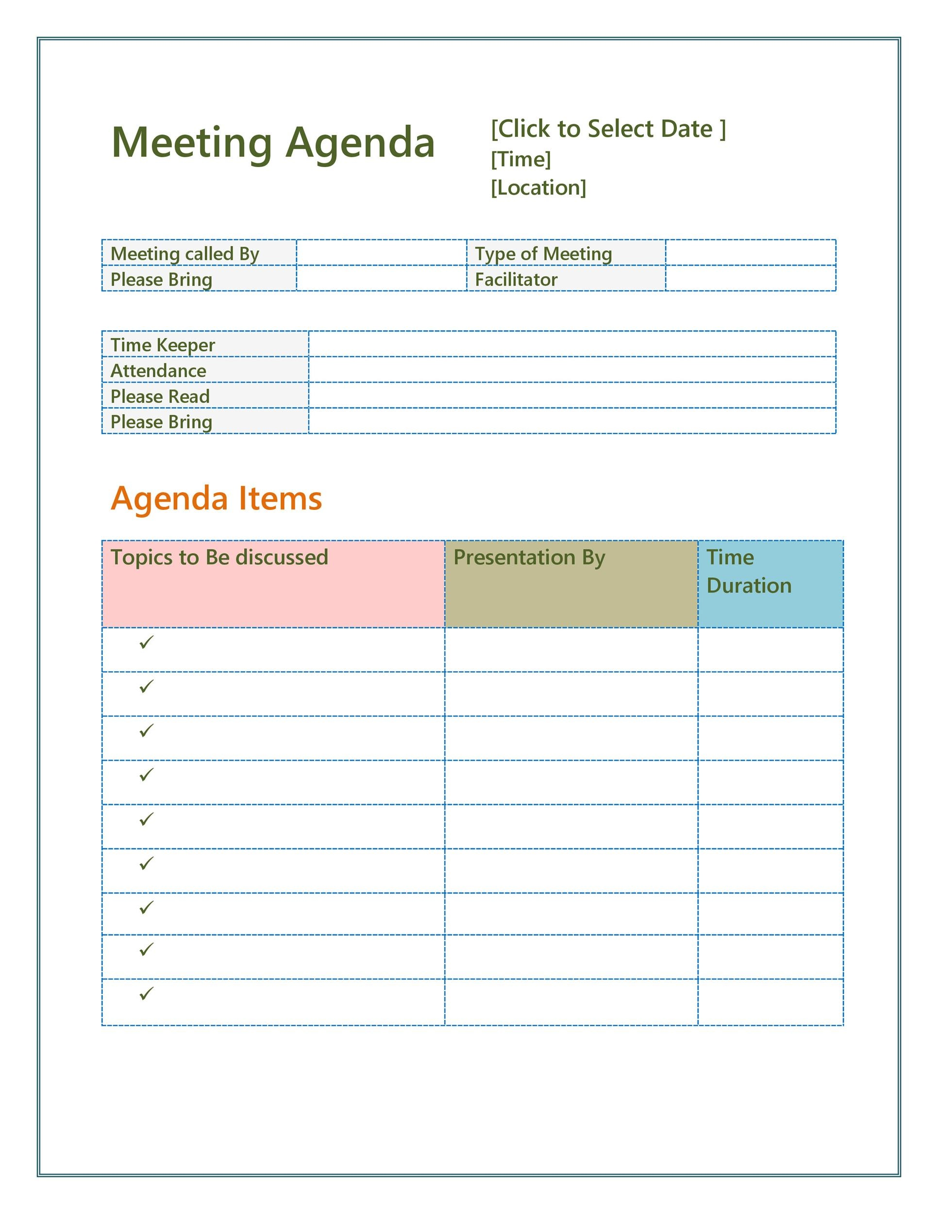 006 Outstanding Staff Meeting Agenda Template Picture  Pdf FreeFull