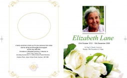 006 Outstanding Template For Funeral Program On Word Highest Clarity  2010 Free Sample Wording