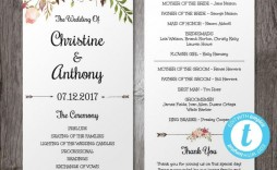 006 Outstanding Wedding Program Template Free Download Picture  Downloadable Fan Microsoft Word Printable Editable