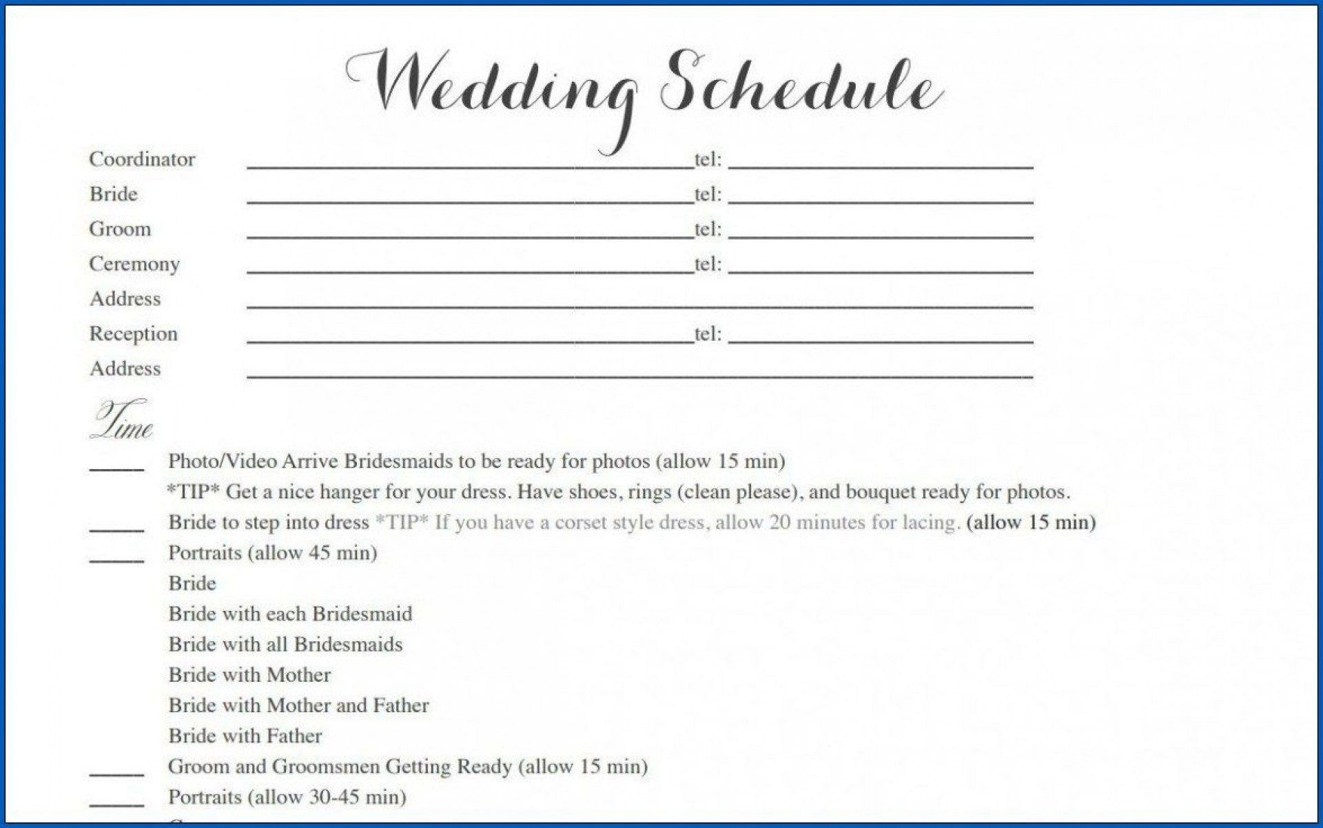006 Outstanding Wedding Timeline Template Free Download Highest Quality 1920