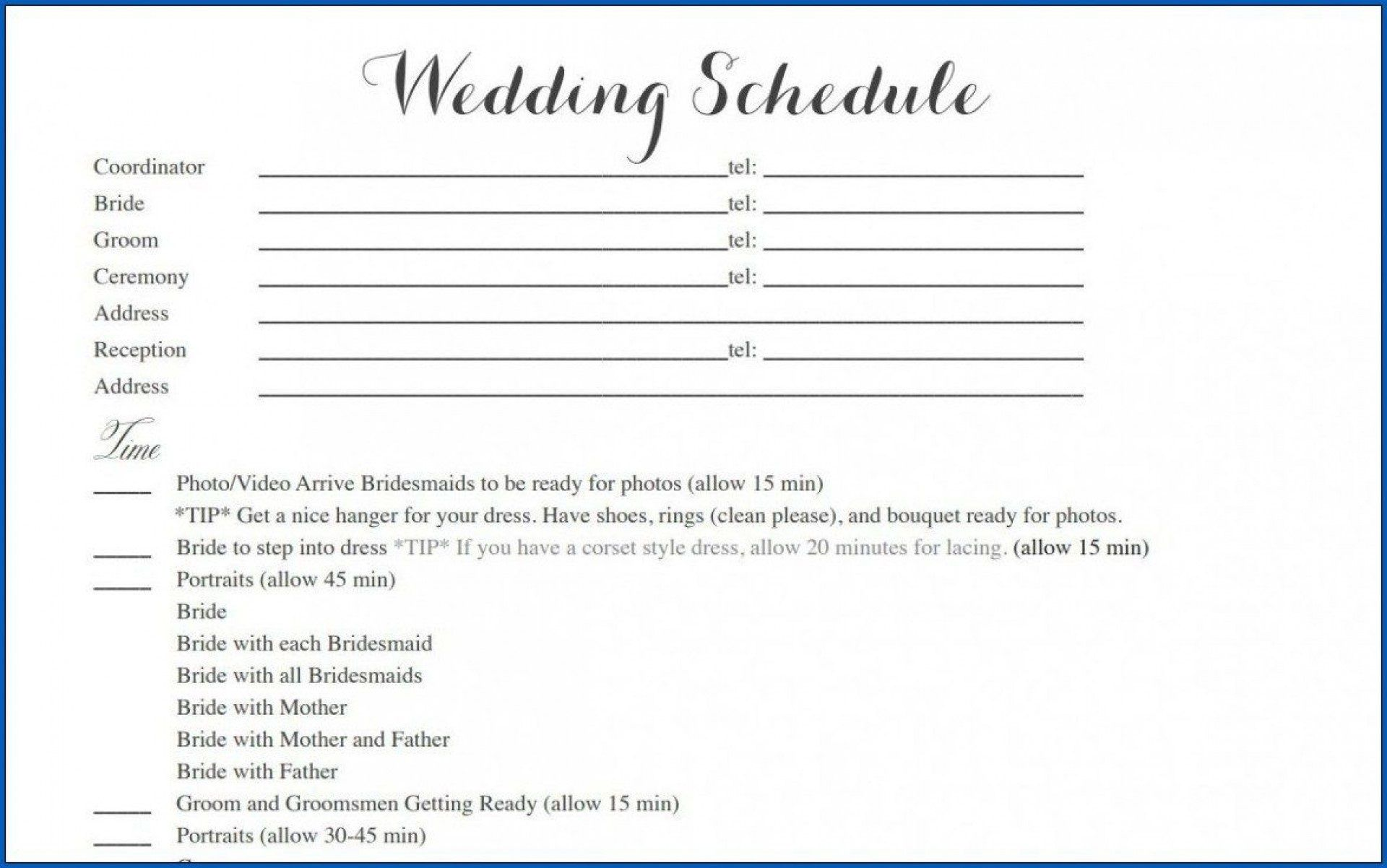 006 Outstanding Wedding Timeline Template Free Download Highest Quality Full