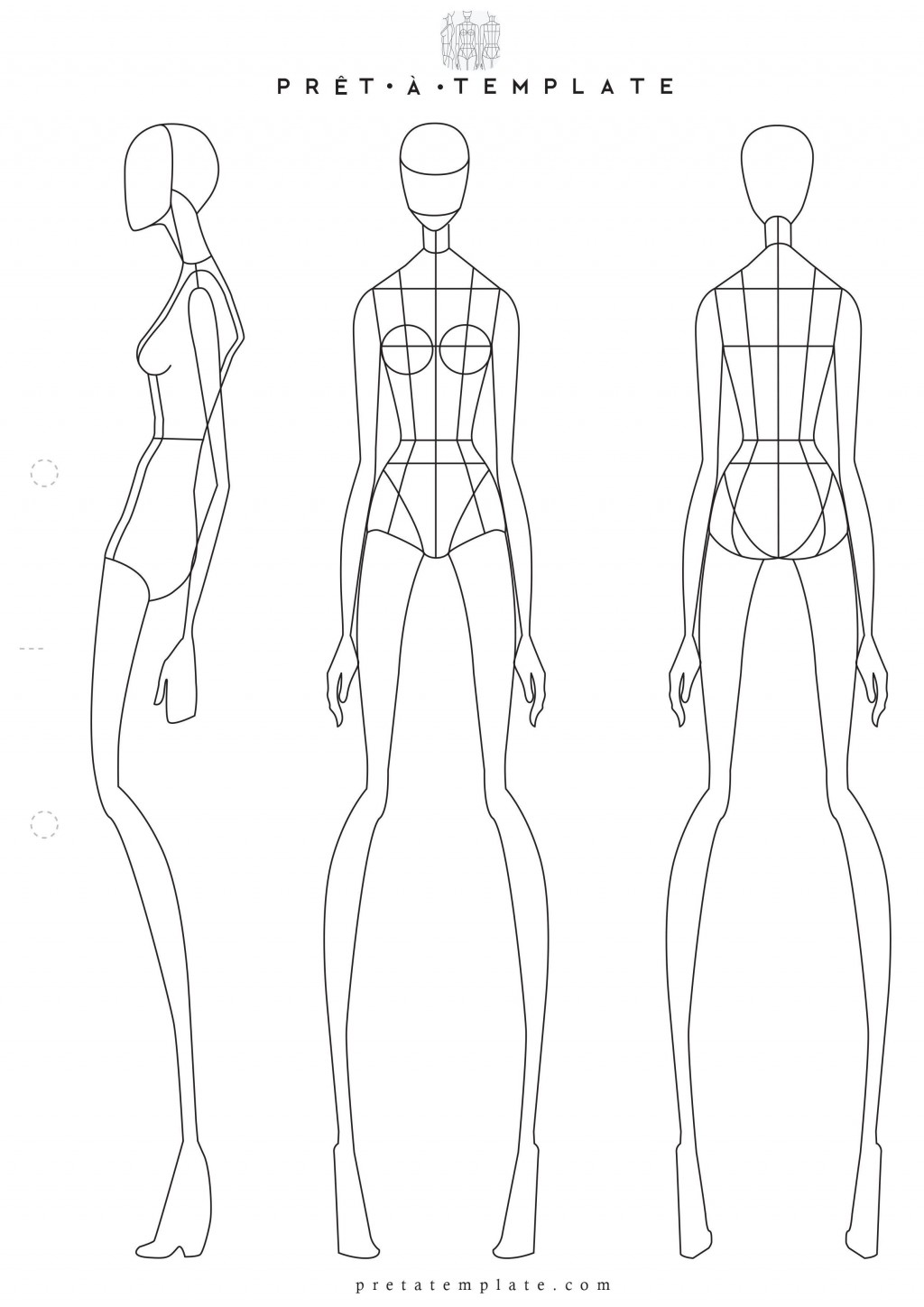 006 Phenomenal Body Template For Fashion Design High Def  Female Male HumanLarge