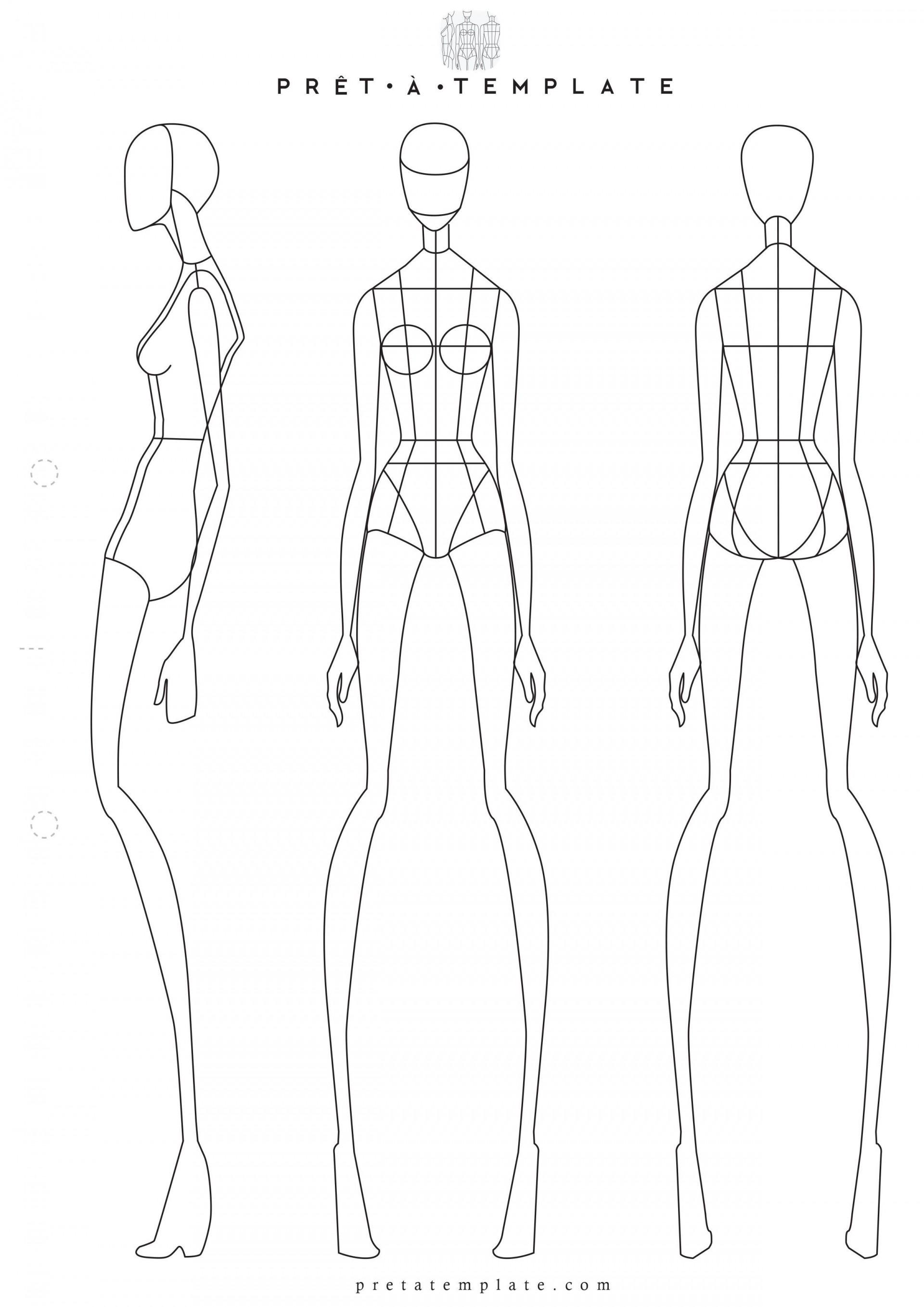 006 Phenomenal Body Template For Fashion Design High Def  Female Male Human1920