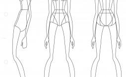 006 Phenomenal Body Template For Fashion Design High Def  Female Male Human