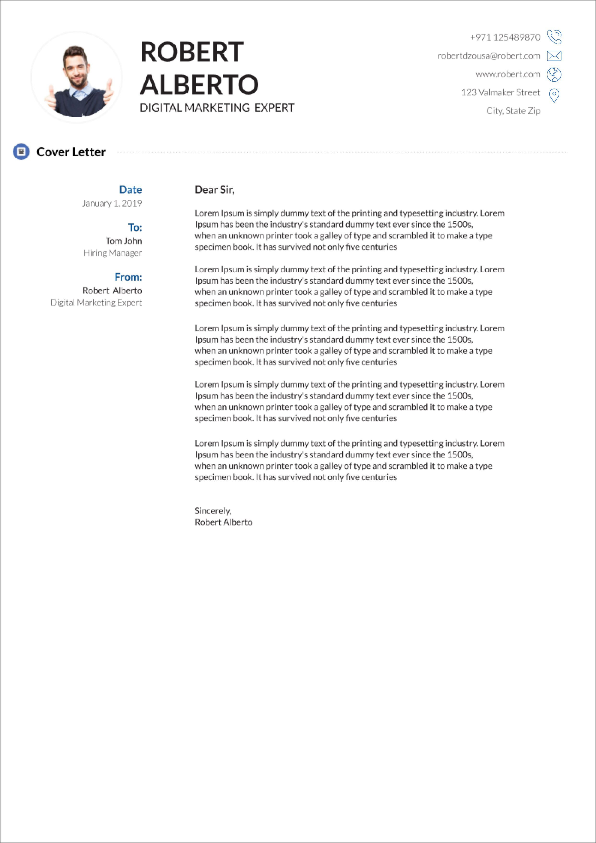Cover Letter Unknown Hiring Manager from www.addictionary.org