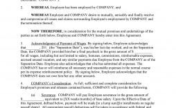 006 Phenomenal Employment Separation Agreement Template Highest Quality  Nc Shrm Employee Florida