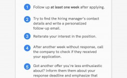 006 Phenomenal Follow Up Email Template Job Application Idea  After For