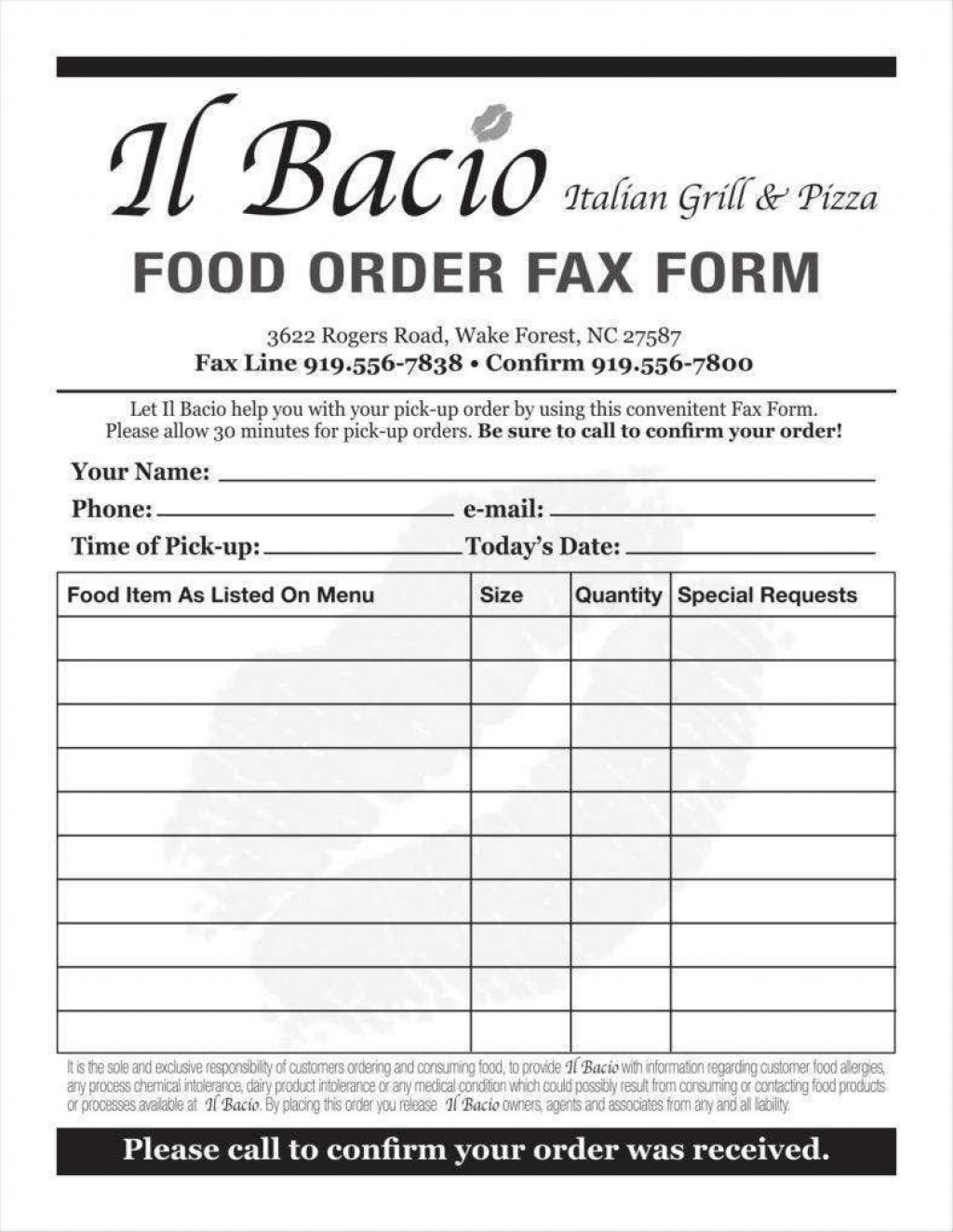006 Phenomenal Food Order Form Template Word Inspiration Large