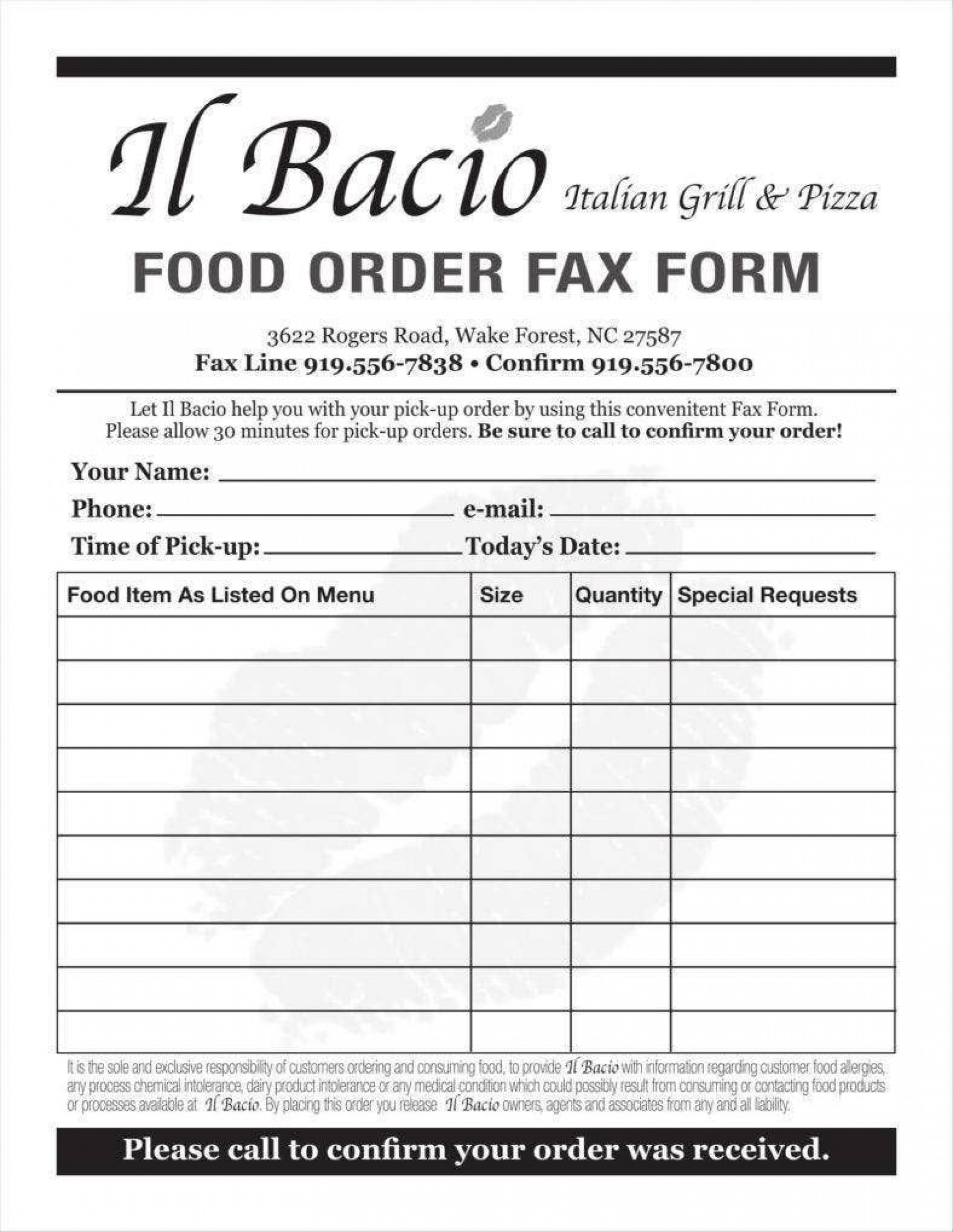 006 Phenomenal Food Order Form Template Word Inspiration 1920