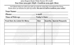 006 Phenomenal Food Order Form Template Word Inspiration