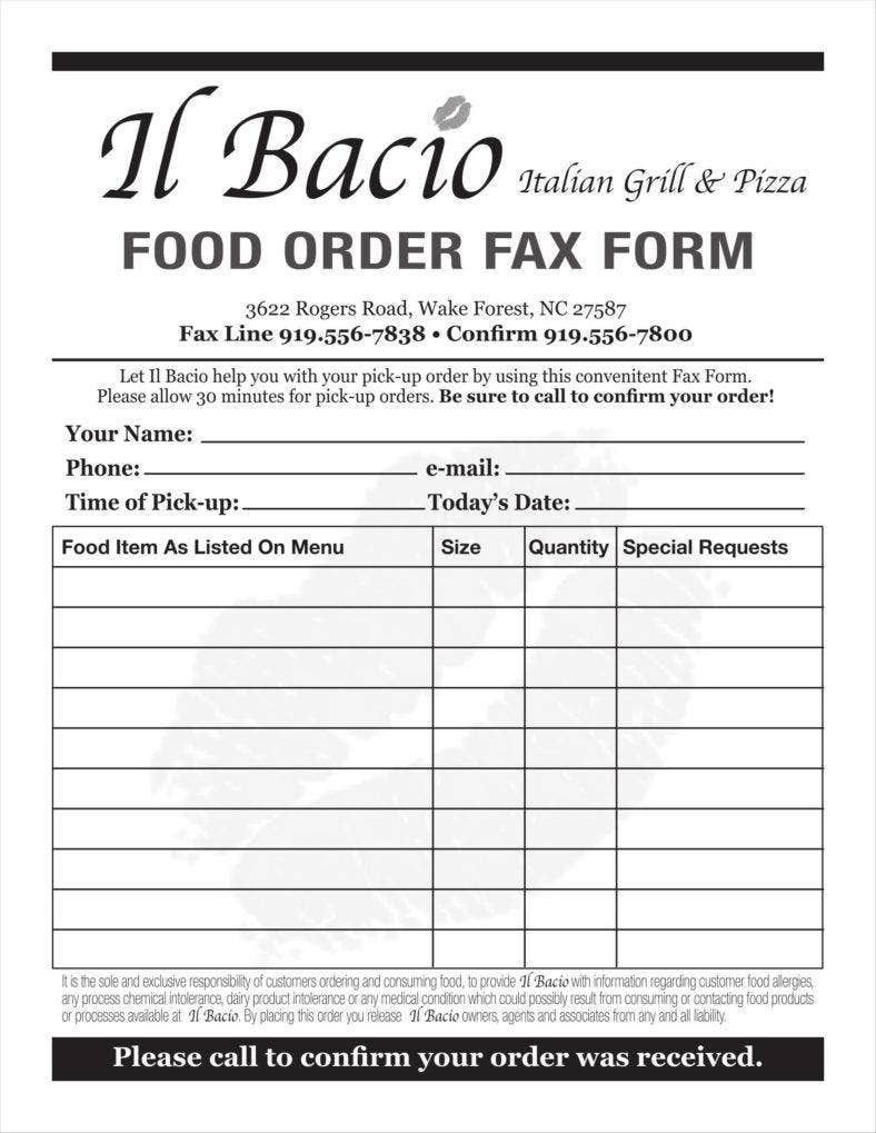 006 Phenomenal Food Order Form Template Word Inspiration Full