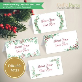 006 Phenomenal Free Printable Christma Tent Card Template High Resolution 320