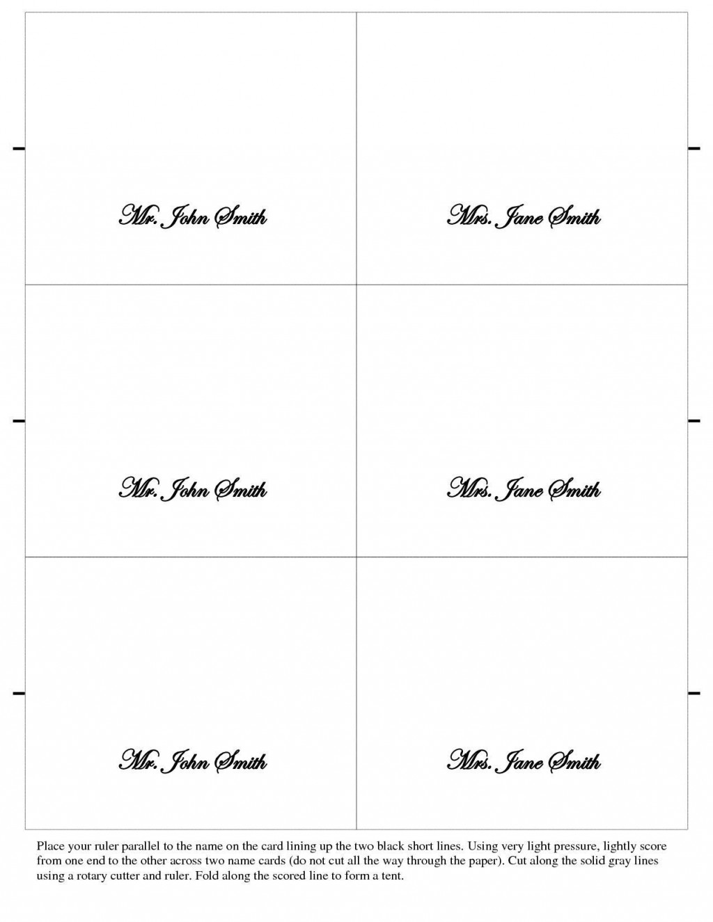 006 Phenomenal Free Printable Place Card Template Sample  Blank Wedding Christma TableLarge