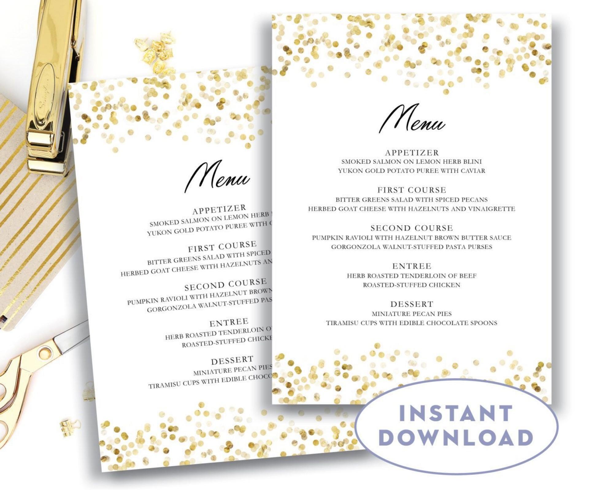 006 Phenomenal Free Wedding Menu Template To Print Highest Quality  Printable Card1920