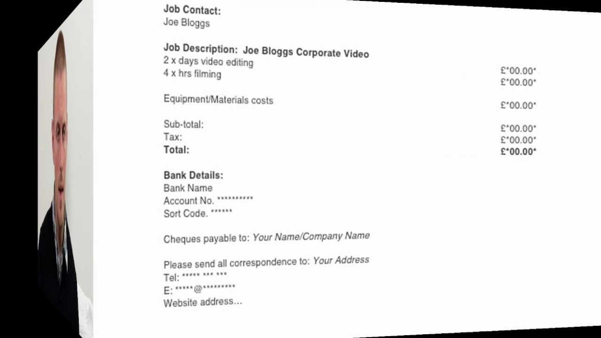 006 Phenomenal Invoice Template Uk Freelance Inspiration  Example Sample Word1920