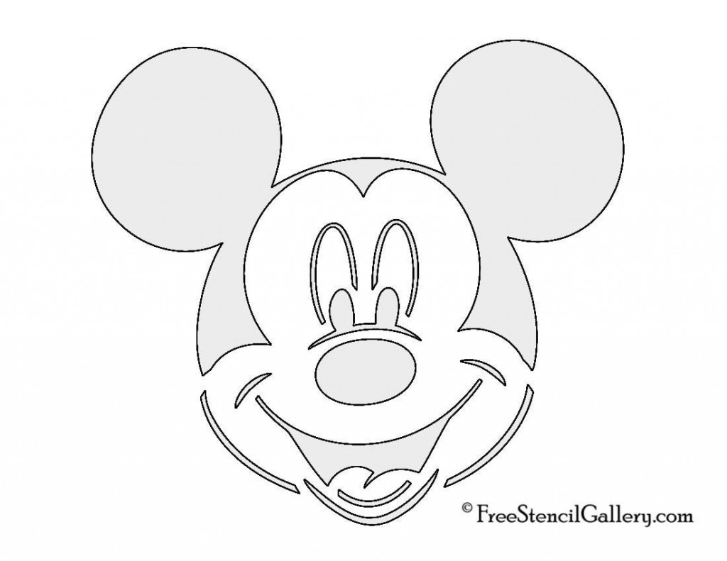 006 Phenomenal Mickey Mouse Face Cake Template Printable High Resolution Large