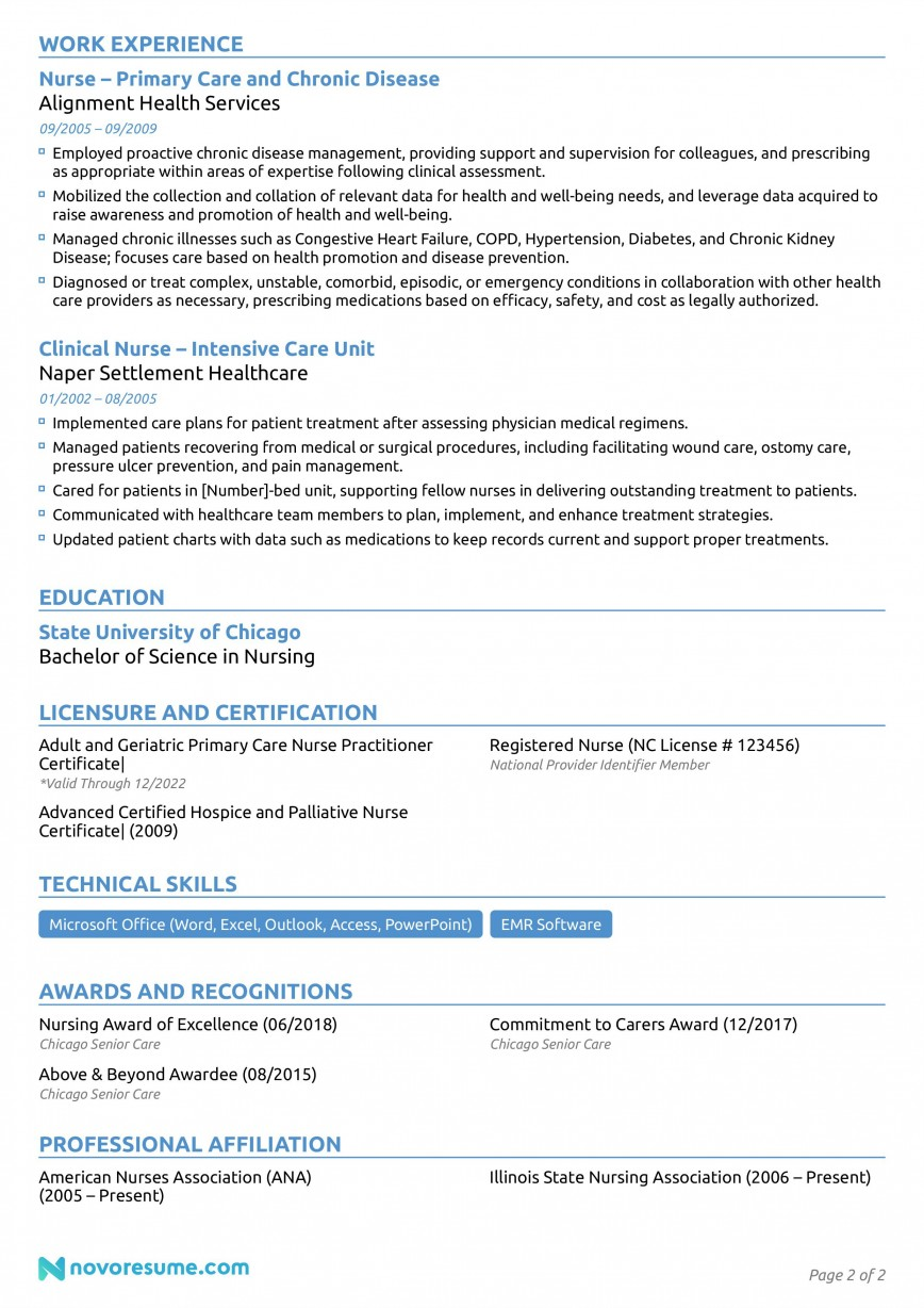 006 Phenomenal Nurse Resume Template Free Design  Download Format Practitioner