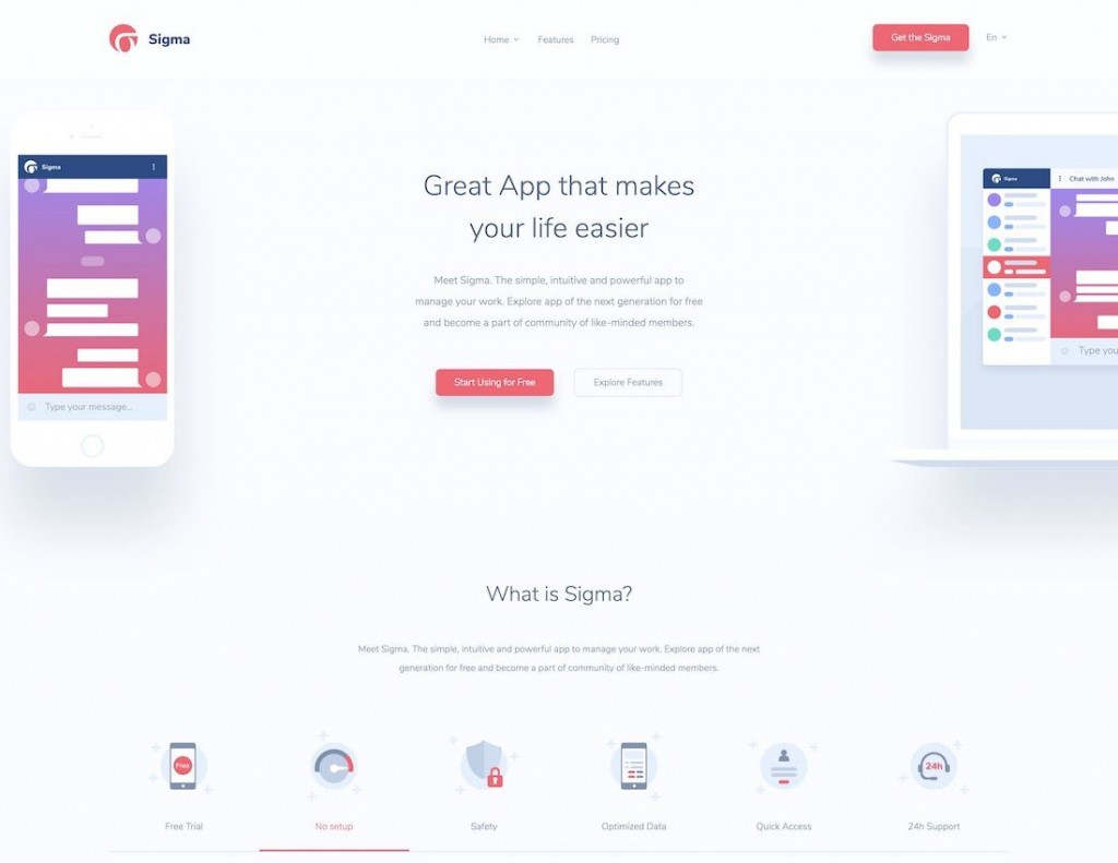 006 Phenomenal One Page Responsive Website Template Bootstrap Free Highest Clarity  DownloadLarge