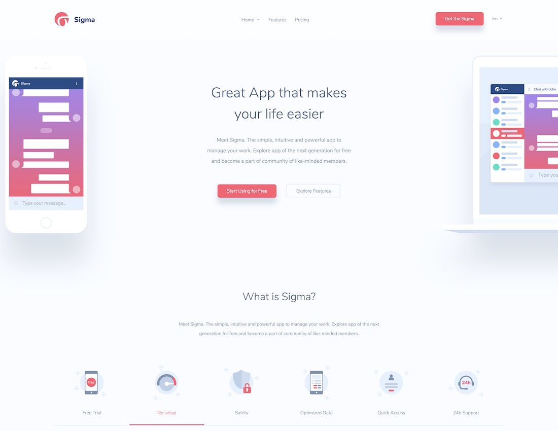 006 Phenomenal One Page Responsive Website Template Bootstrap Free Highest Clarity  DownloadFull