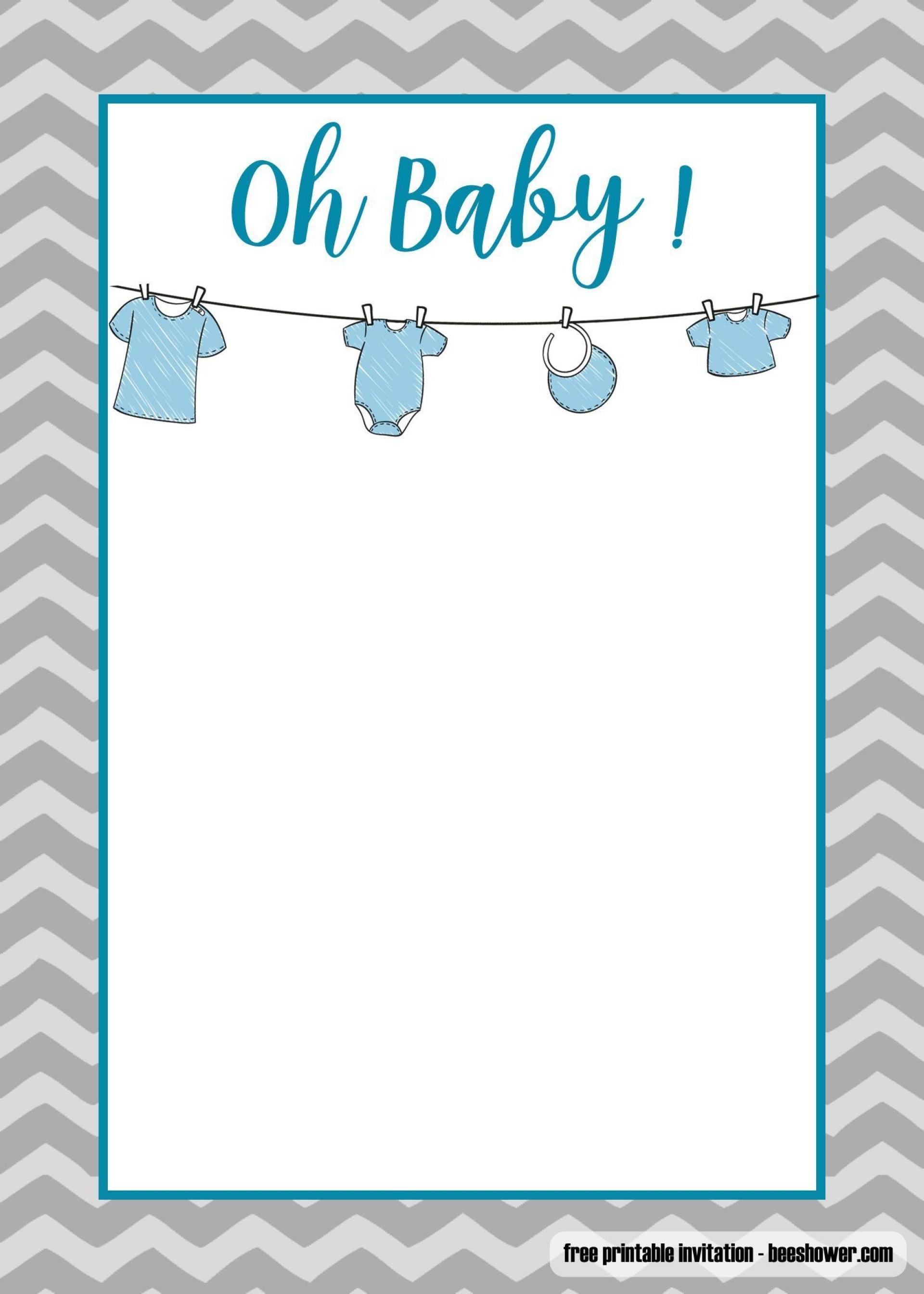 006 Phenomenal Onesie Baby Shower Invitation Template Image  Free1920