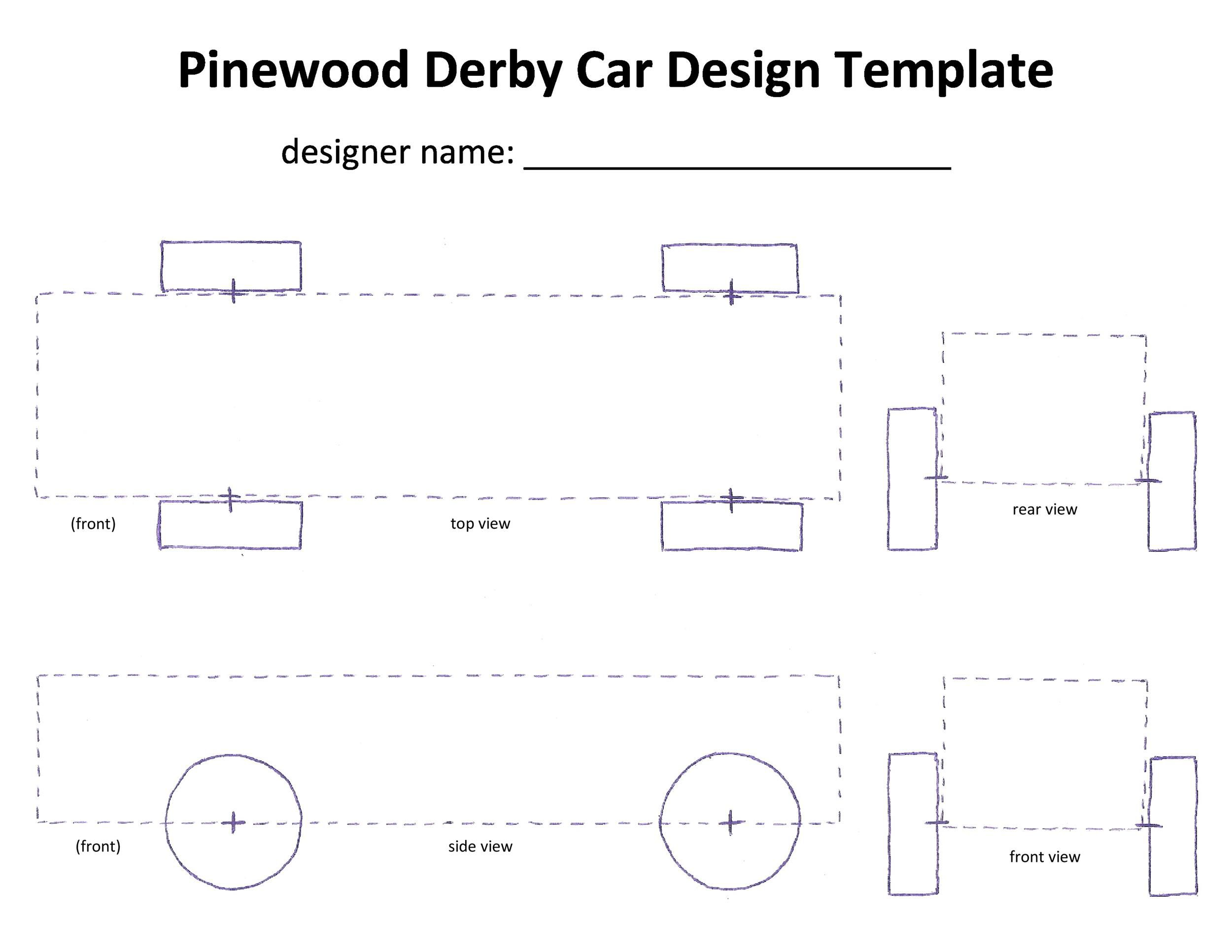 Pinewood Derby Free Template from www.addictionary.org