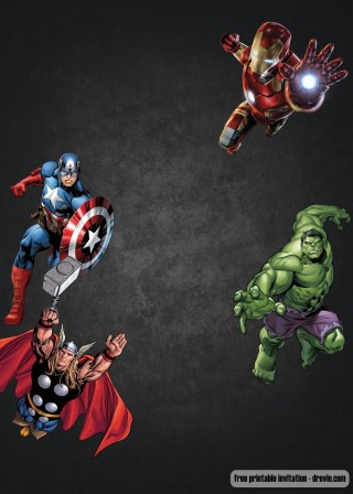 006 Phenomenal Superhero Birthday Invitation Template Free Image 320