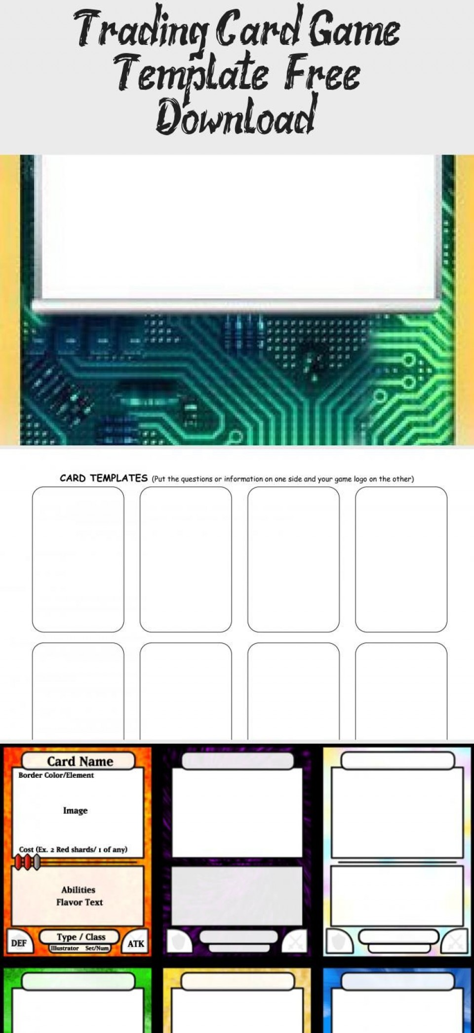 006 Phenomenal Trading Card Template Free High Def  Game Maker Download960