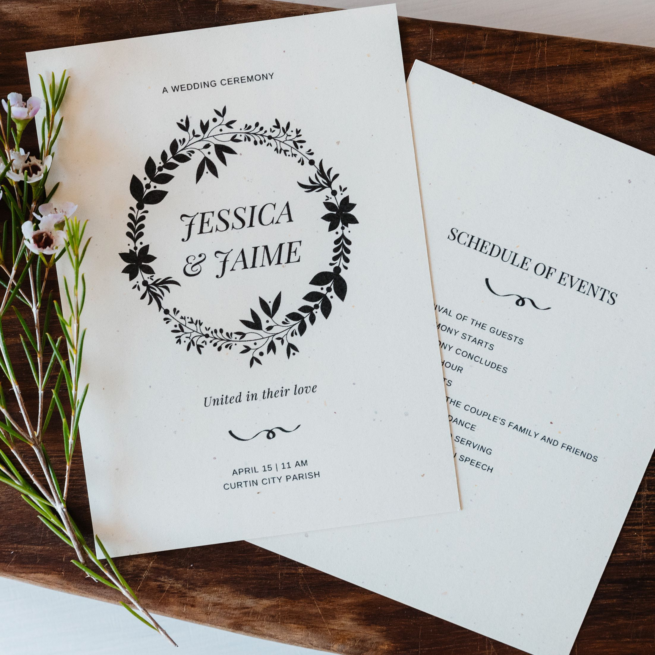 006 Phenomenal Wedding Order Of Service Template Pdf Highest Quality Full