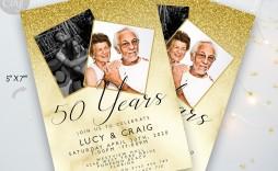 006 Rare 50th Anniversary Party Invitation Template Sample  Templates Golden Wedding Uk Microsoft Word Free
