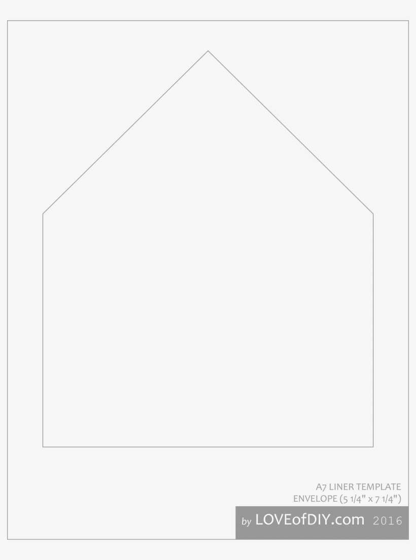 006 Rare A7 Envelope Liner Template Inspiration  Printable Illustrator FreeFull