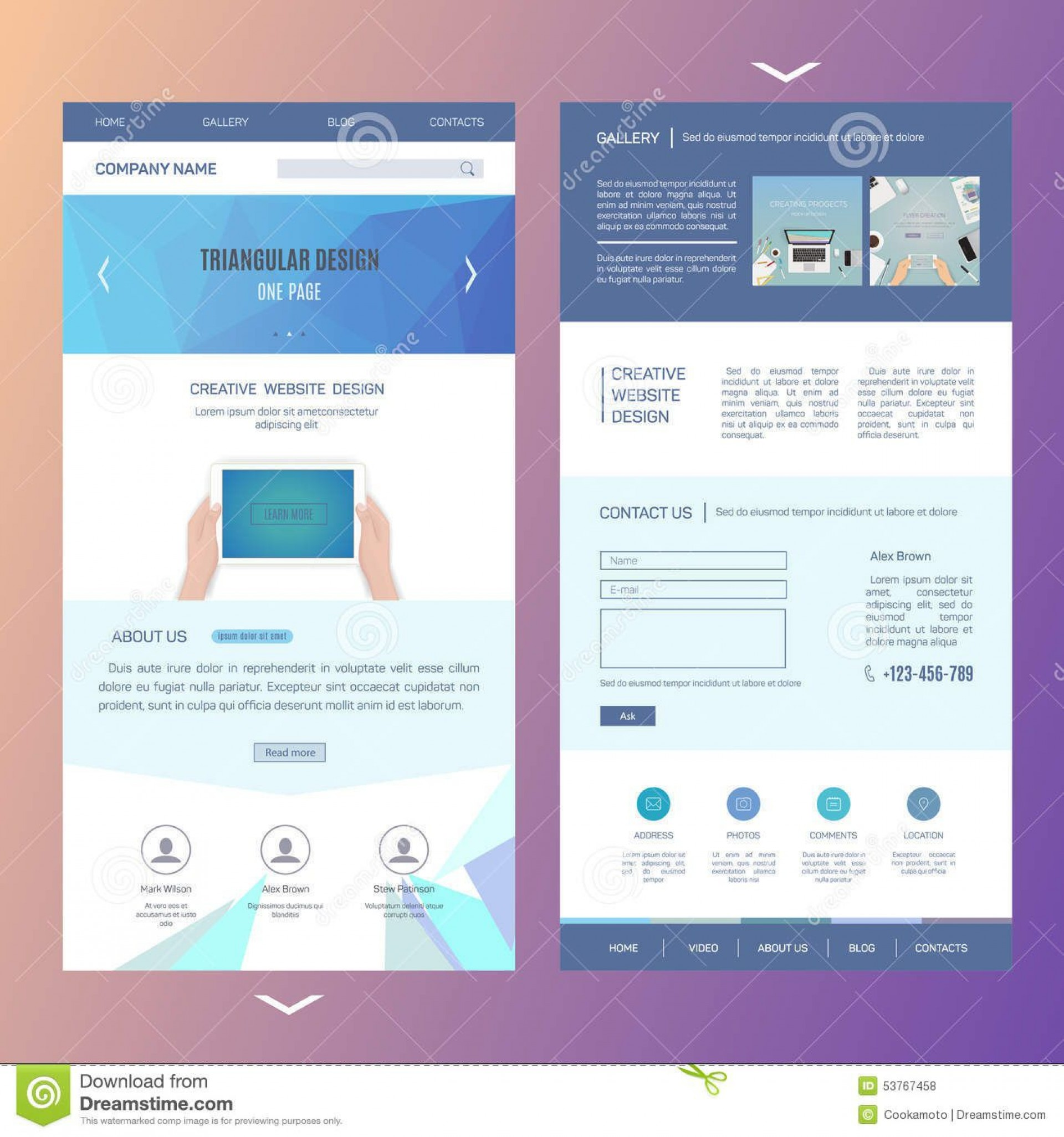 006 Rare Creative One Page Website Template Free Download High Definition 1920
