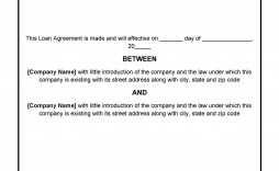 006 Rare Family Loan Agreement Template Canada Sample