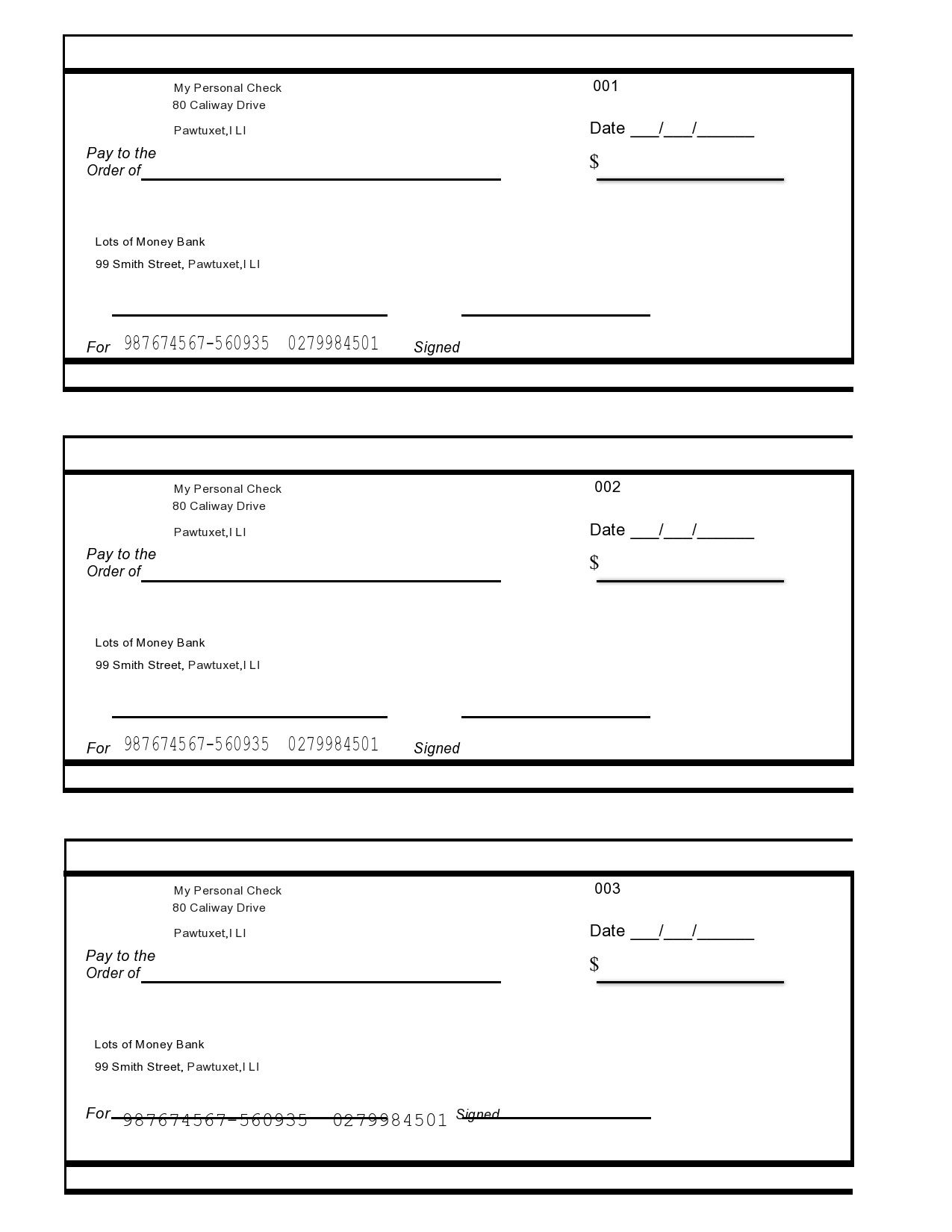 006 Rare Free Blank Check Template Pdf Inspiration  Fillable PrintableFull
