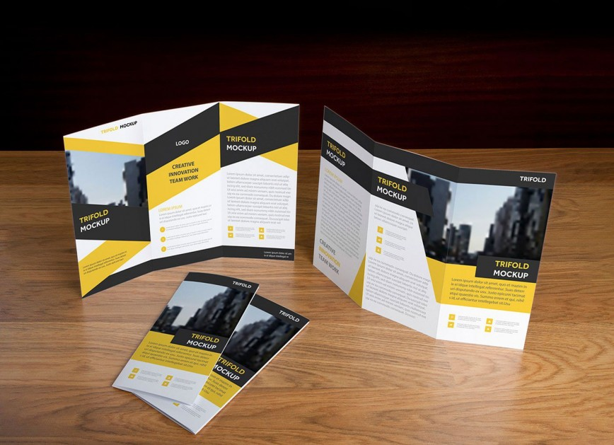006 Rare Free Brochure Template Psd File Front And Back Sample 868