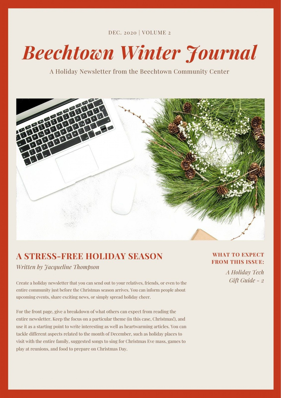 Free Christmas Newsletter Templates Addictionary