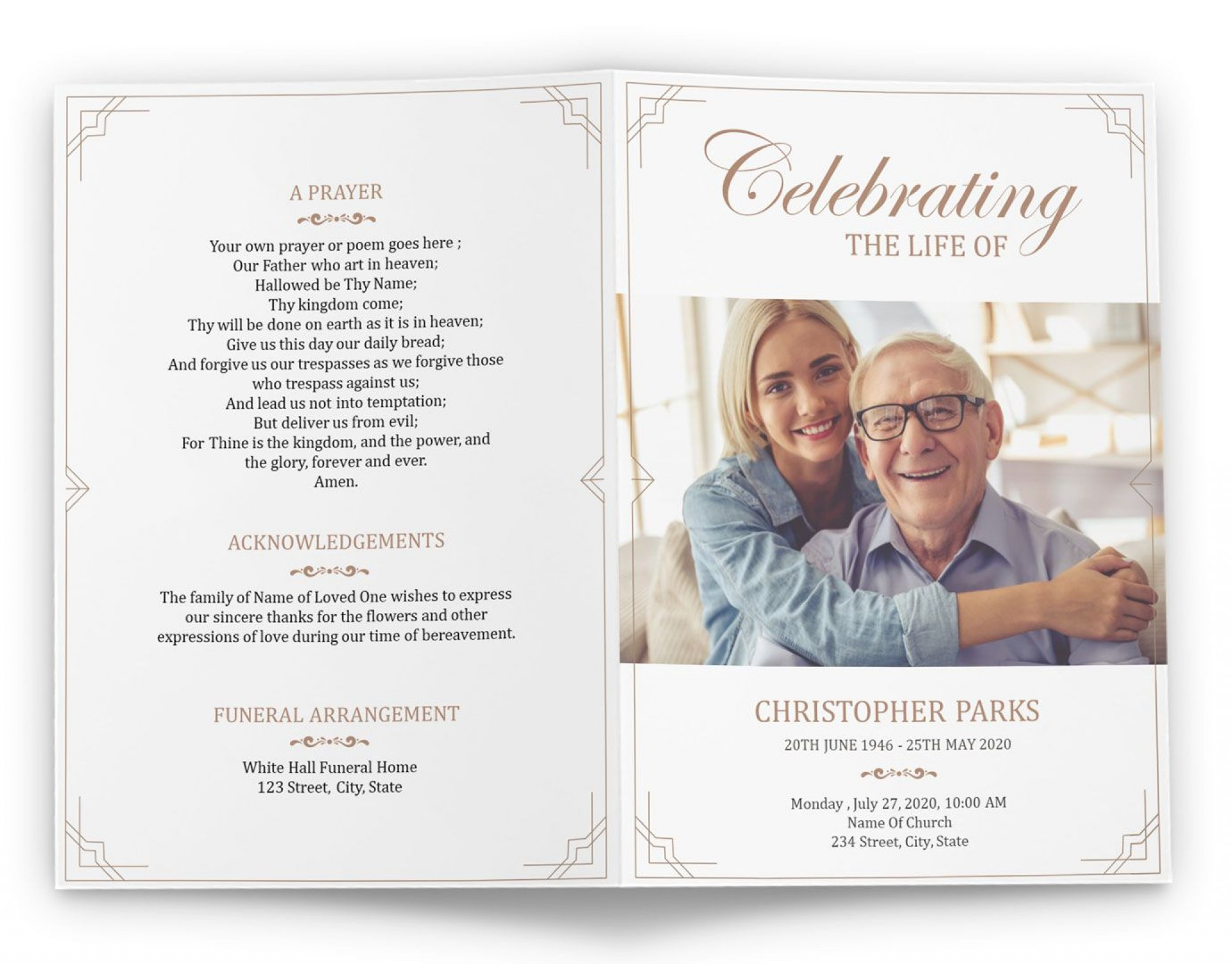006 Rare Free Printable Celebration Of Life Program Template Image 1920